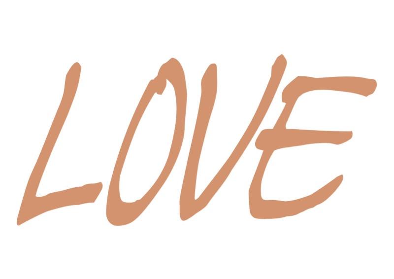 Pancartes LOVE en couleur Luv1510