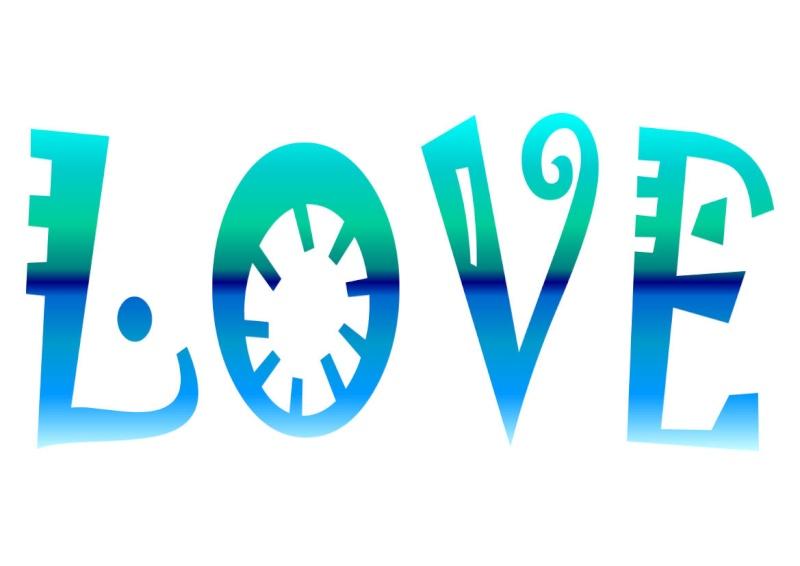 Pancartes LOVE en couleur Luv1810