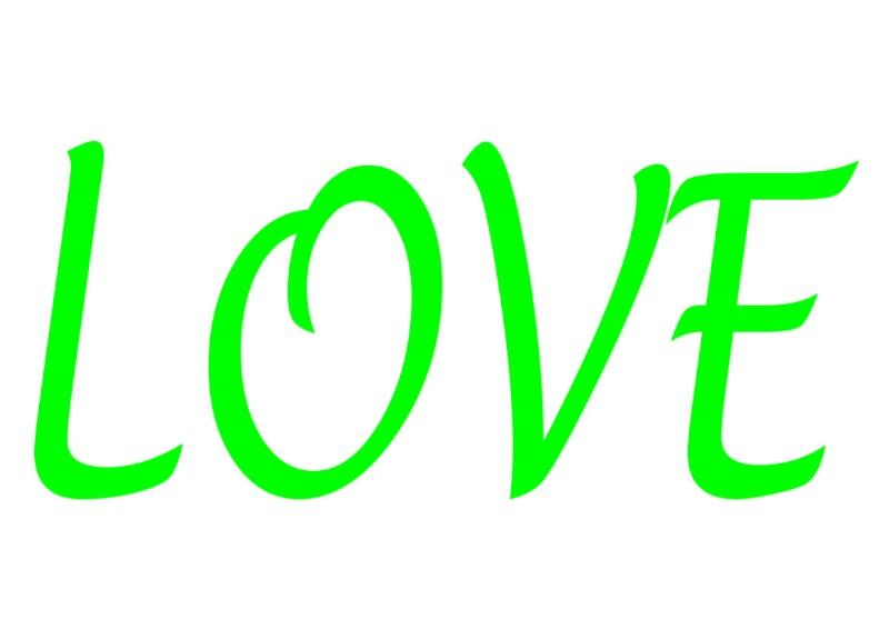 Pancartes LOVE en couleur Luv1910