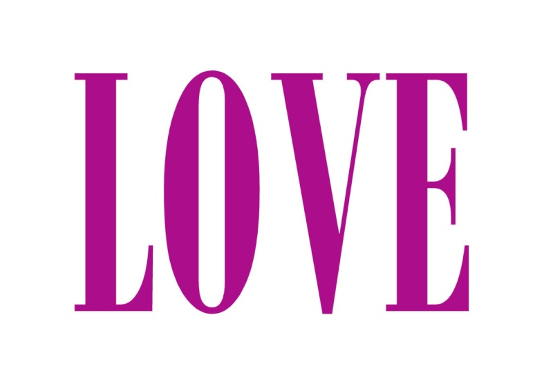 Pancartes LOVE en couleur Luv210