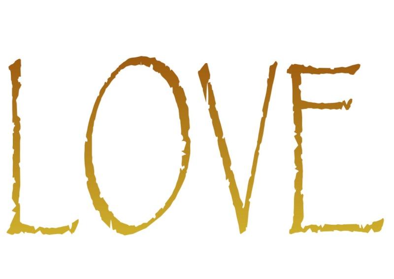 Pancartes LOVE en couleur Luv2610