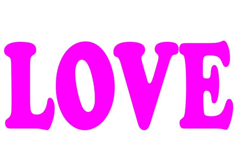 Pancartes LOVE en couleur Luv510