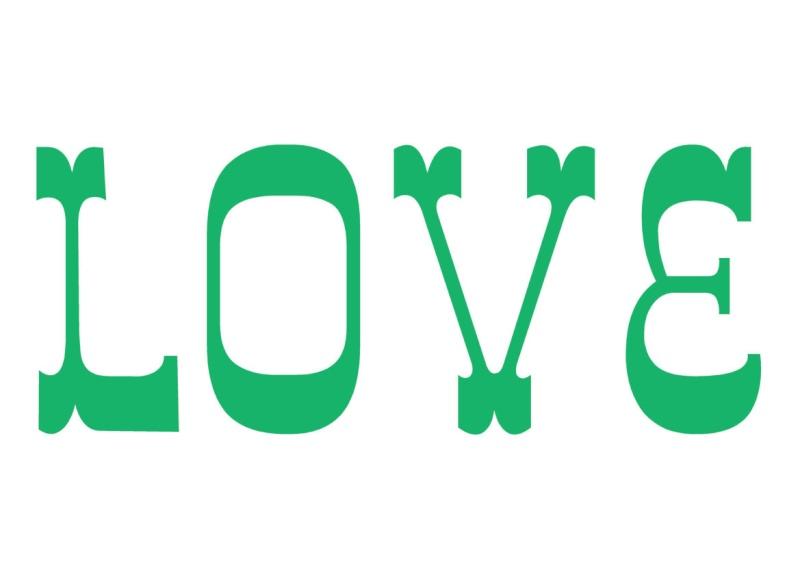 Pancartes LOVE en couleur Luv710