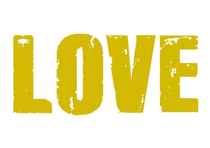 Pancartes LOVE en couleur Luv810