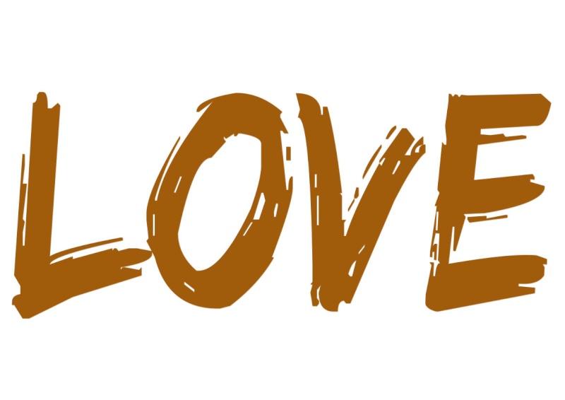 Pancartes LOVE en couleur Luv910