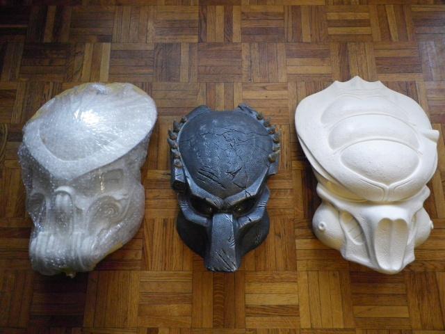 casque celtic predator et mon masque (début) Imgp0115