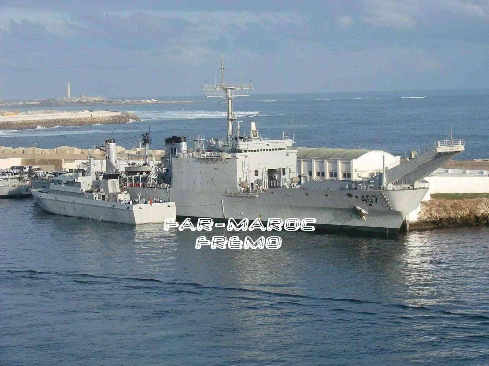 Royal Moroccan Navy Newport class / Sidi Mohammed Ben Abdellah ( 407 ) ( Inactive ) Fremo410