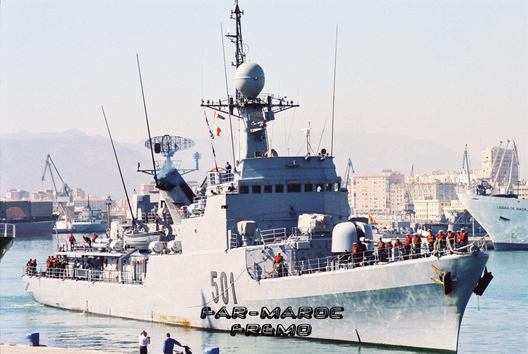 Royal Moroccan Navy Descubierta Frigate / Patrouilleur Océanique Lt Cl Errahmani - Bâtiment École Fremo510