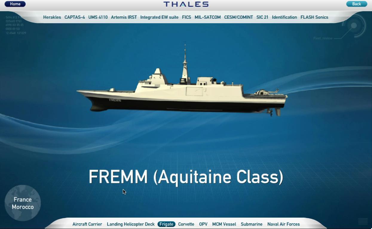 FREMM Marocaine / Royal Moroccan Navy FREMM Frigate - Page 23 Thales10