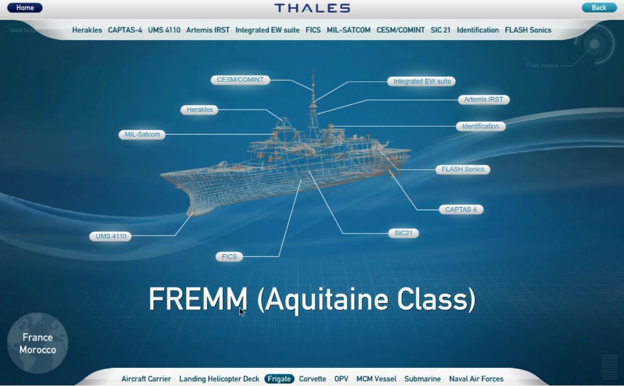 FREMM Marocaine / Royal Moroccan Navy FREMM Frigate - Page 23 Thales11