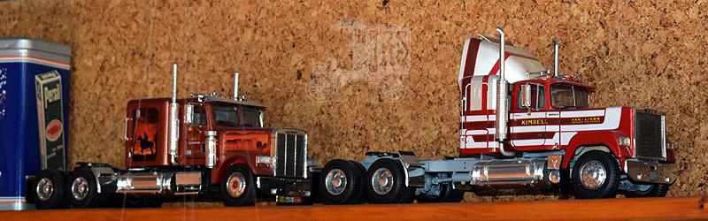 Revell Kenworth K100 Orient Express Trucks10