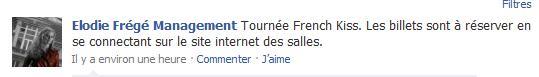 Elodie Frégé participera au French Kiss Tour 2010 French10