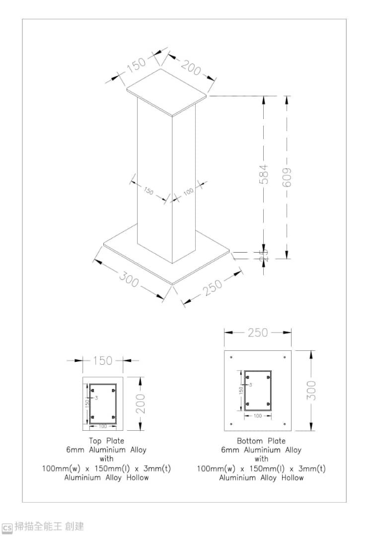 """Aluminium Speaker Stand 24"""" (60cm)(Custom Make) Whatsa16"""