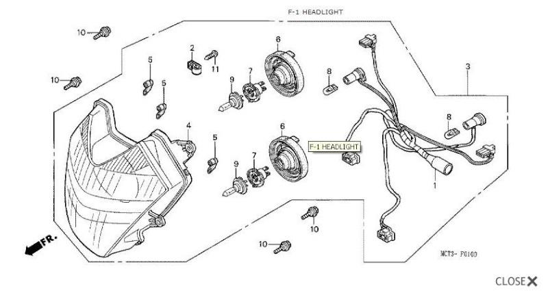 Headlight Reflector - 2 Additional Light Sockets Silver11
