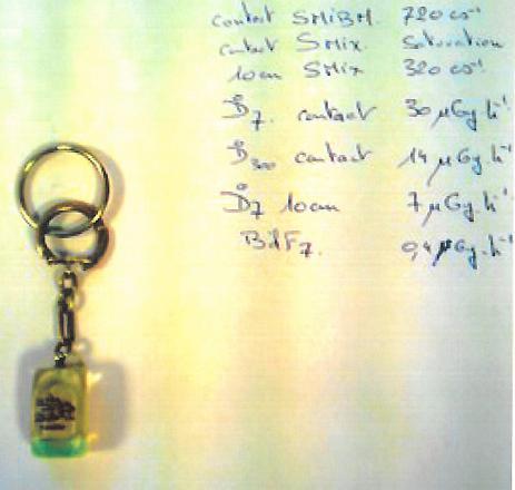 Découverte en INB d'un porte-clefs radioactif Mesure10