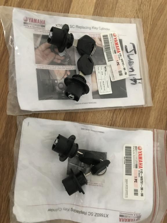 Référence Cylindre de clé bagagerie Yamaha xtz 1200 et 660 9db39710