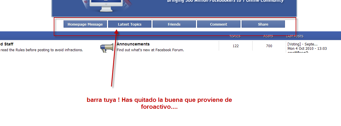 """Ver ultimo post"" funciona mal Facefo10"