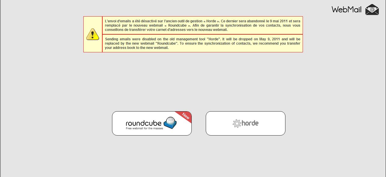 Aun no recibo correos en el webmail de mi nombre de dominio personalizado : porque & solución. Horde110
