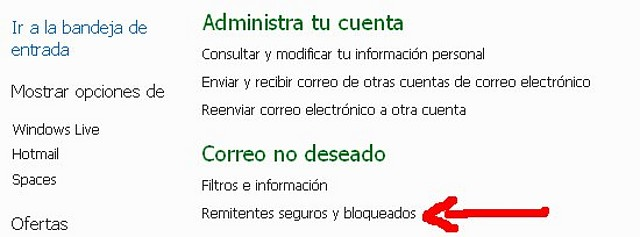Detectado problema en hotmail... Hot210
