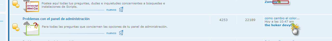 """""""Ver ultimo post"""" funciona mal Pincha10"""
