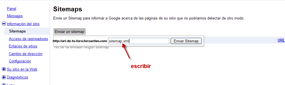 Optimizar la referencia de su foro via Google Sitemaps Site1110