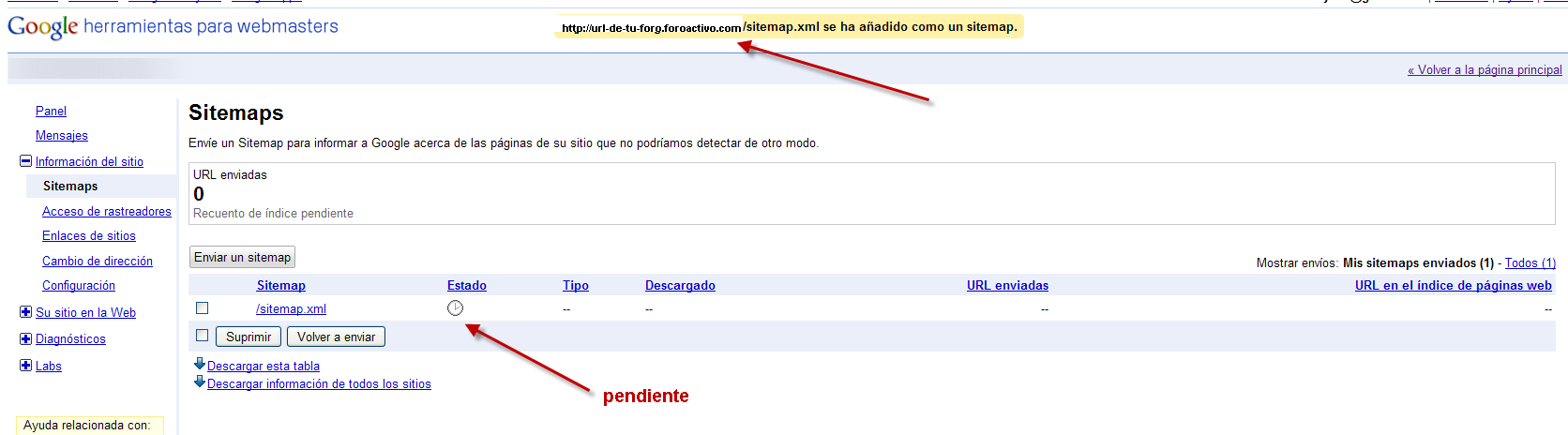 Optimizar la referencia de su foro via Google Sitemaps Site1210