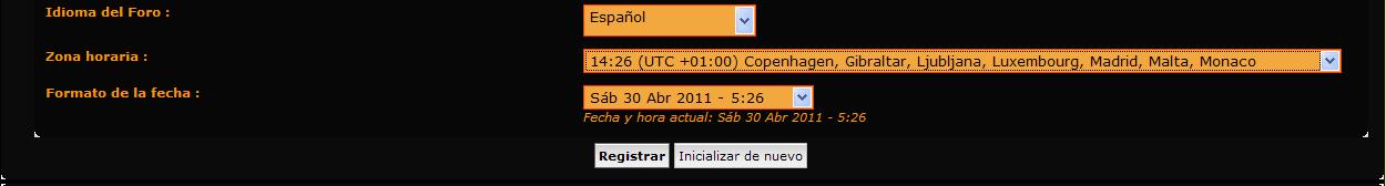 Los husos horarios Zona310