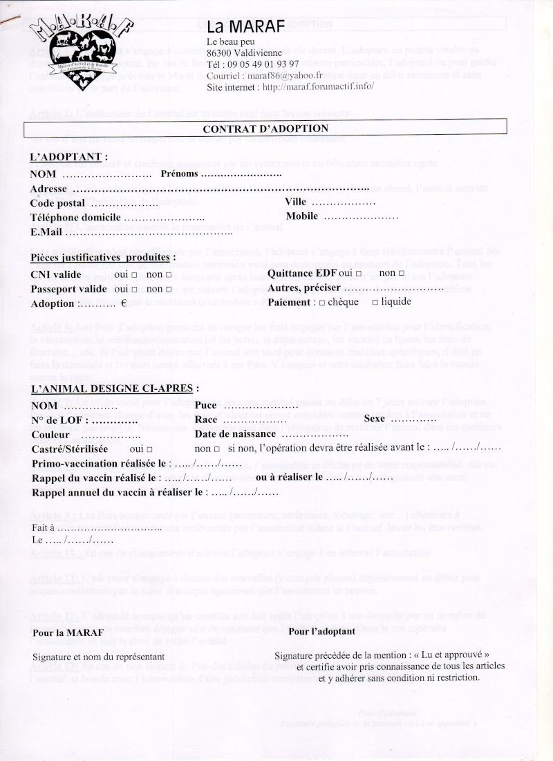 Formulaire pré-adoption et contrat d'adoption Contra10