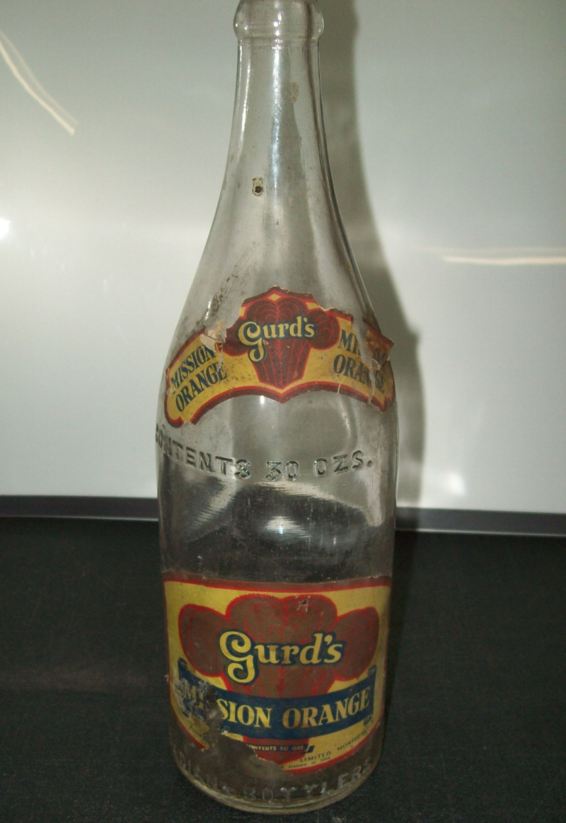 bouteille 30 oz   Gurd's  Mission Orange Gurds-10