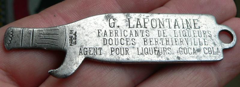 Ouvre-bouteille G. Lafontaine embouteilleur de Berthierville, Québec Opener10