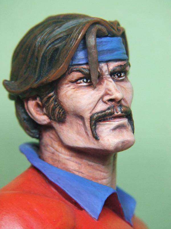L'atelier de bruno : le corsaire sculpté par Jim Maddox. Visage11