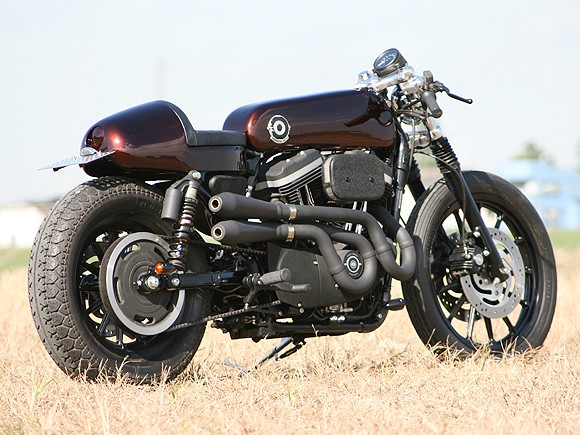 SPORTY CAFE RACER: CA LUI VA SI BIEN! LES PHOTOS... Harley12