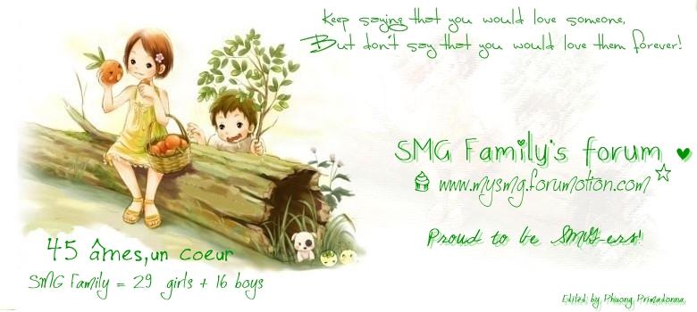 [̲̅ə̲̅٨̲̅٥̲̅٦̲̅] SMG Family's Forum [̲̅ə̲̅٨̲̅٥̲̅٦̲̅]