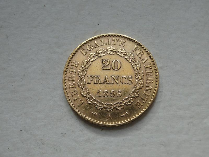 """20 francs 1896 """"or"""" Dsc00637"""
