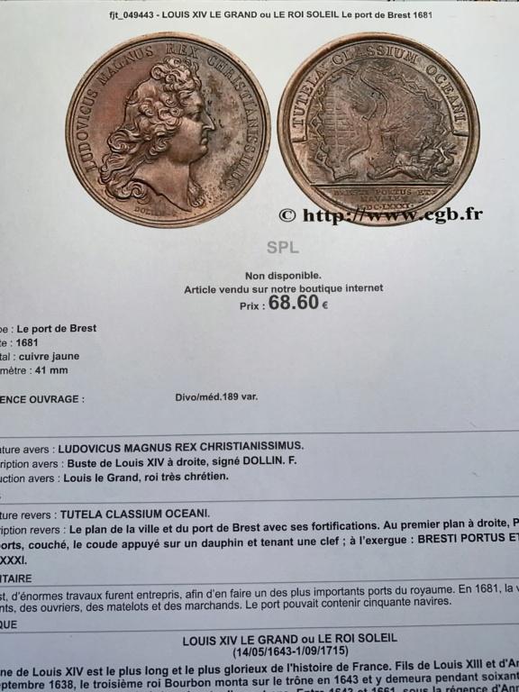 MEDAILLE UNIFACE DE LOUIS XIV Img_6618