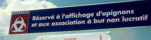 Spion.com : un panneau municipal de Bordeaux truffé de fautes.  Bordea10