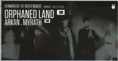 Orphaned Land + Arkan + Myrath le 18/11/11 @ Forum de Vauréal Ol10
