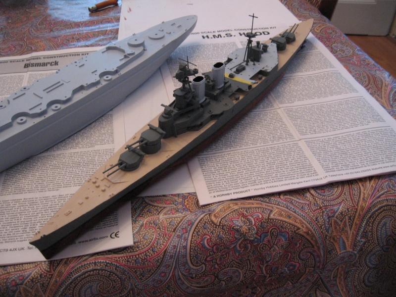 HMS Hood & DKM Bismarck Airfix au 1/600 Img_2516
