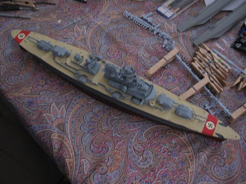 HMS Hood & DKM Bismarck Airfix au 1/600 Img_2614