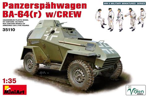 BA-64 / panzerspähwagen - [Miniart, 1/35, référence 35110] 3511010