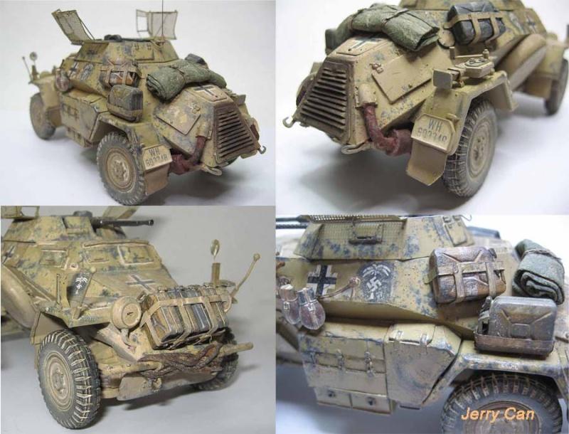 Sdkfz 222, Tamiya 1/35 Sdkfz221