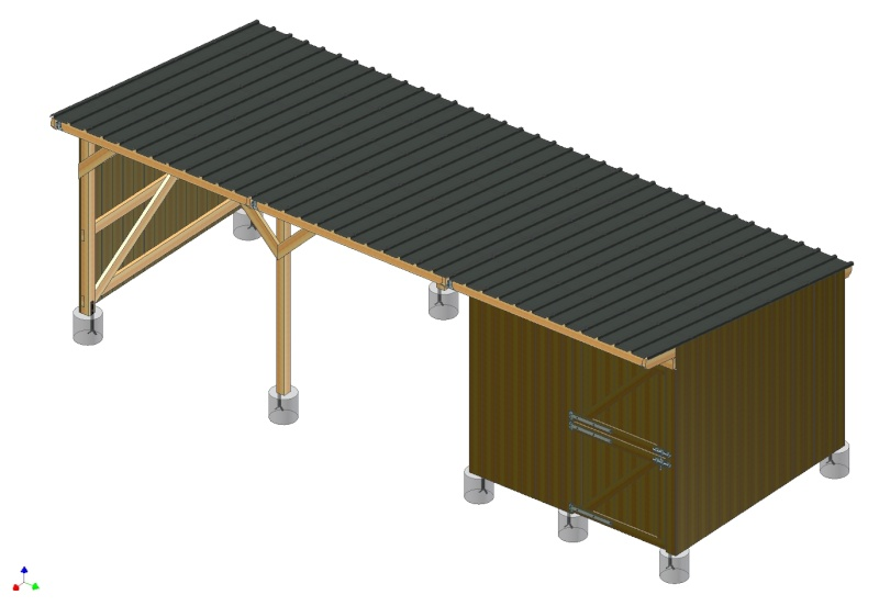 ABRI-BOX 9m x 3m - pour chevaux - Page 3 Ensemb10