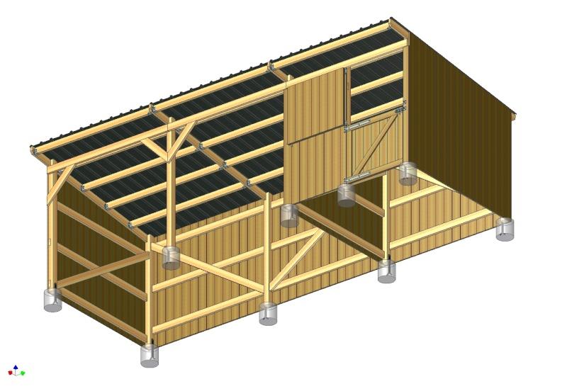 ABRI-BOX 9m x 3m - pour chevaux - Page 3 Ensemb11