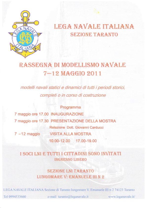 Rassegna di modellismo navale Lega Navale Taranto 7-12 maggio 2011 Mostra11