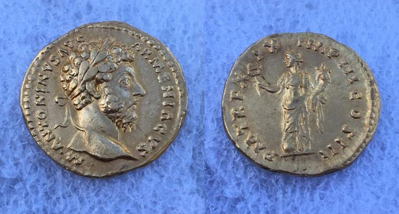 Aureus de Marc Aurèle Ma110