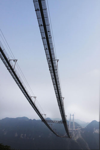 Main cables finished for Aizhai suspension bridge 00137213