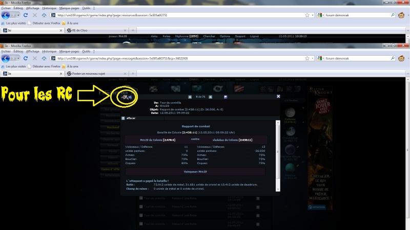 Alliance Démoniak - Ogame Univer Io - Portail Infoco11