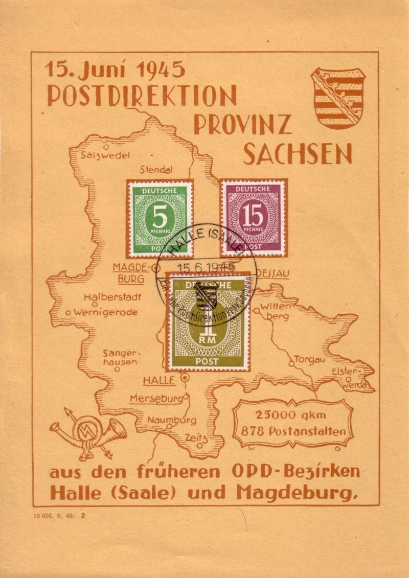 Postdirektion Provinz Sachsen vom 15.06.1945 Marke018