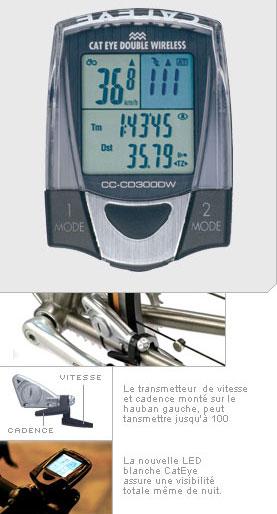 Vend Compteur Cateye Sans fil + capteur de cadence 60€ 332-og10