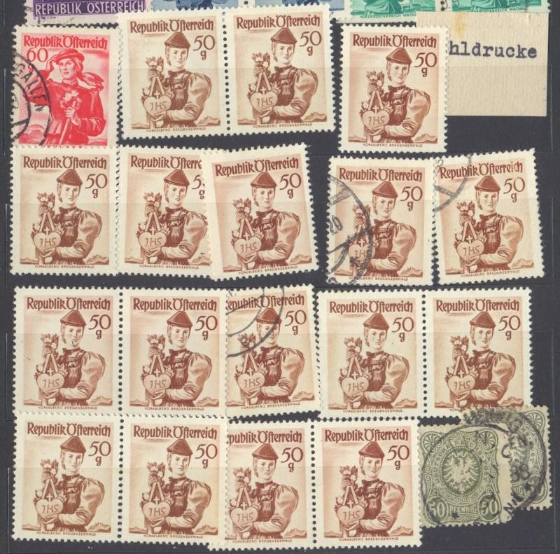 Österreichische Volkstrachten 1948 - 1952  fehldruck Stamps12